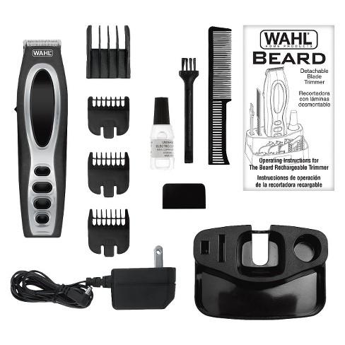 Wahl Beard Stubble Rechargeable Mens Beard Facial Trimmer