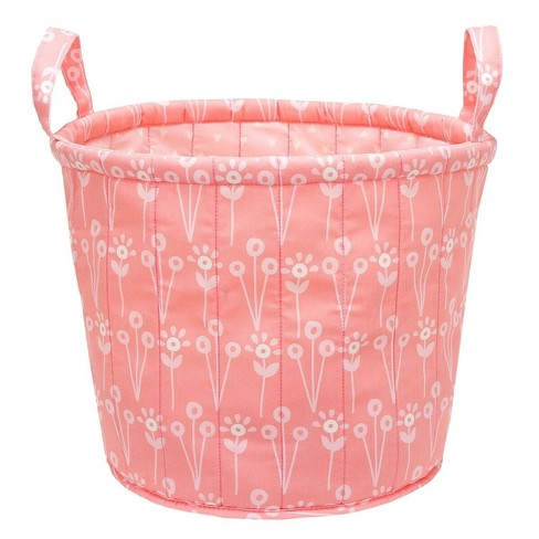 Quilted Storage Bin Floral - Cloud Island™ - Pink - image 1 of 2