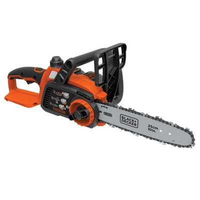 Black & Decker LCS1020 20V MAX Brushed Lithium-Ion 10 in. Cordless Chainsaw Kit (2 Ah)