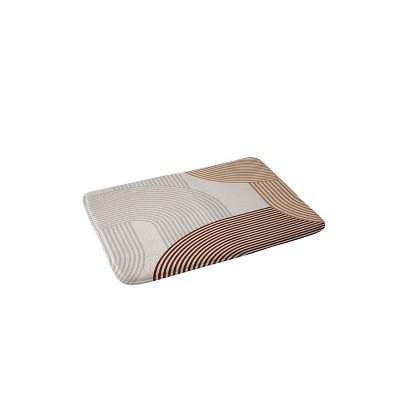 Iveta Abolina Mid Century Line Art Memory Foam Bath Mat Brown - Deny Designs