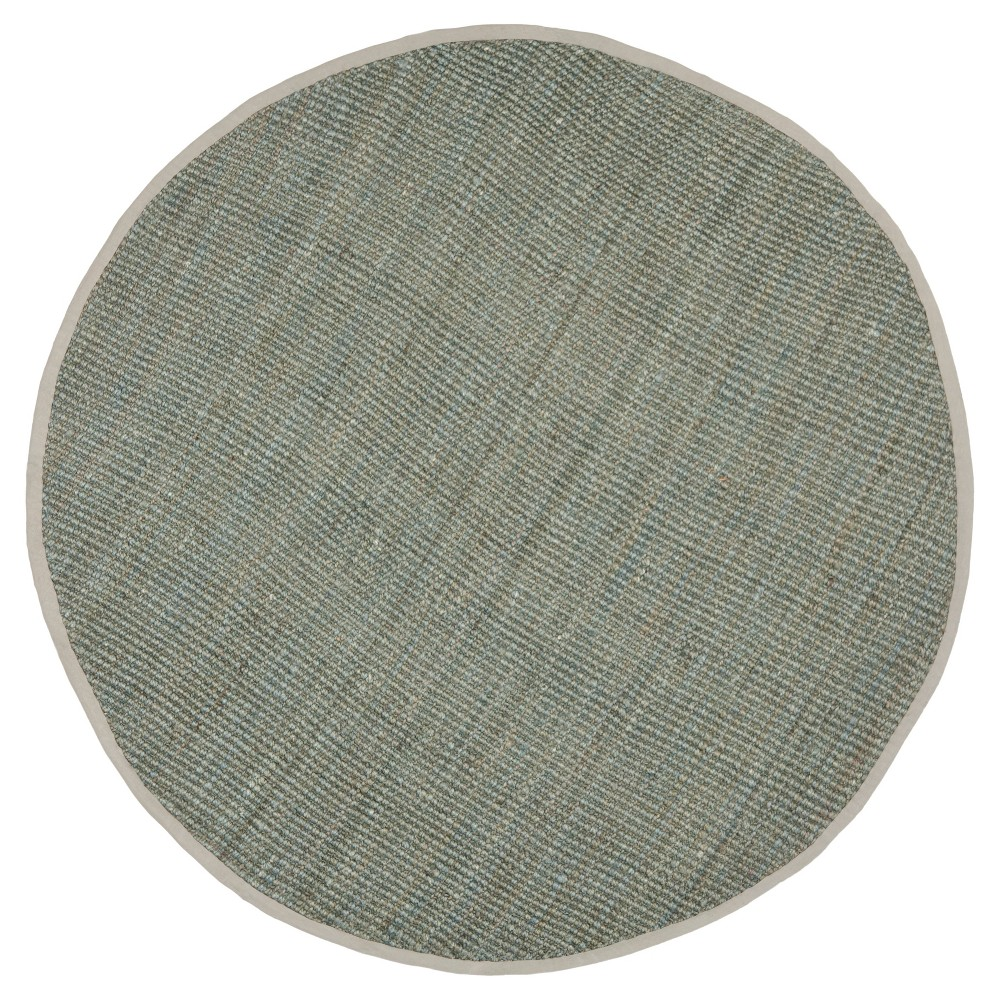 Gray Solid Loomed Round Area Rug 5' - Safavieh