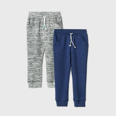 Toddler Girls' 2pk Fleece Jogger Pants - Cat & Jack™ Gray/Navy