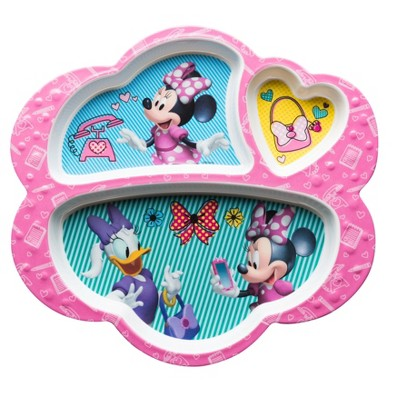 Minnie Mouse Kids Divided Plate 9.3  - Zak Designs