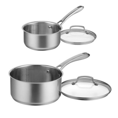 Cuisinart Classic 4pc Stainless Steel Saucepan Set