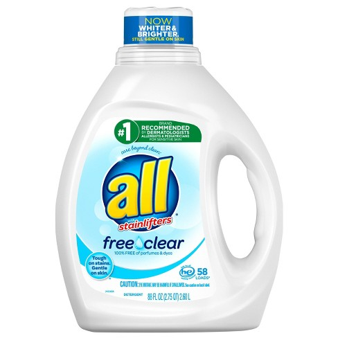All Ultra Free Clear HE Liquid Laundry Detergents - image 1 of 3