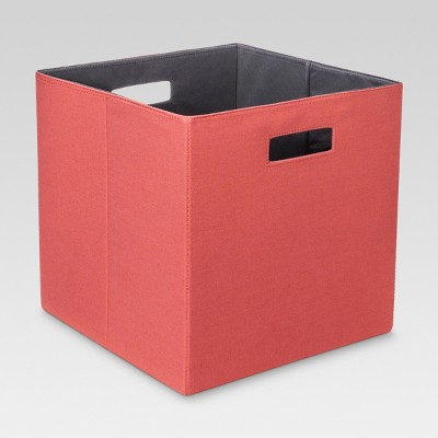 Fabric Cube Storage Bin 13  -Coral - Threshold™