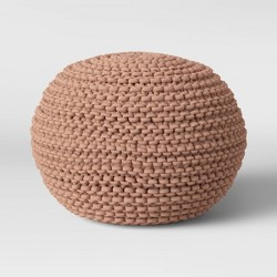 Cloverly Chunky Knit Pouf - Threshold™