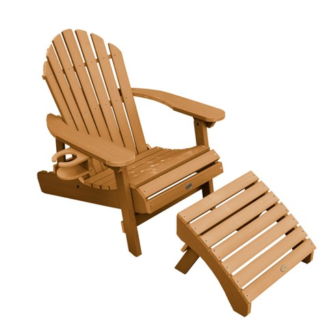 Hamilton Folding & Reclining Adirondack Chair with Ottoman & Easy-Add Cup Holder - Highwood - image 1 of 3