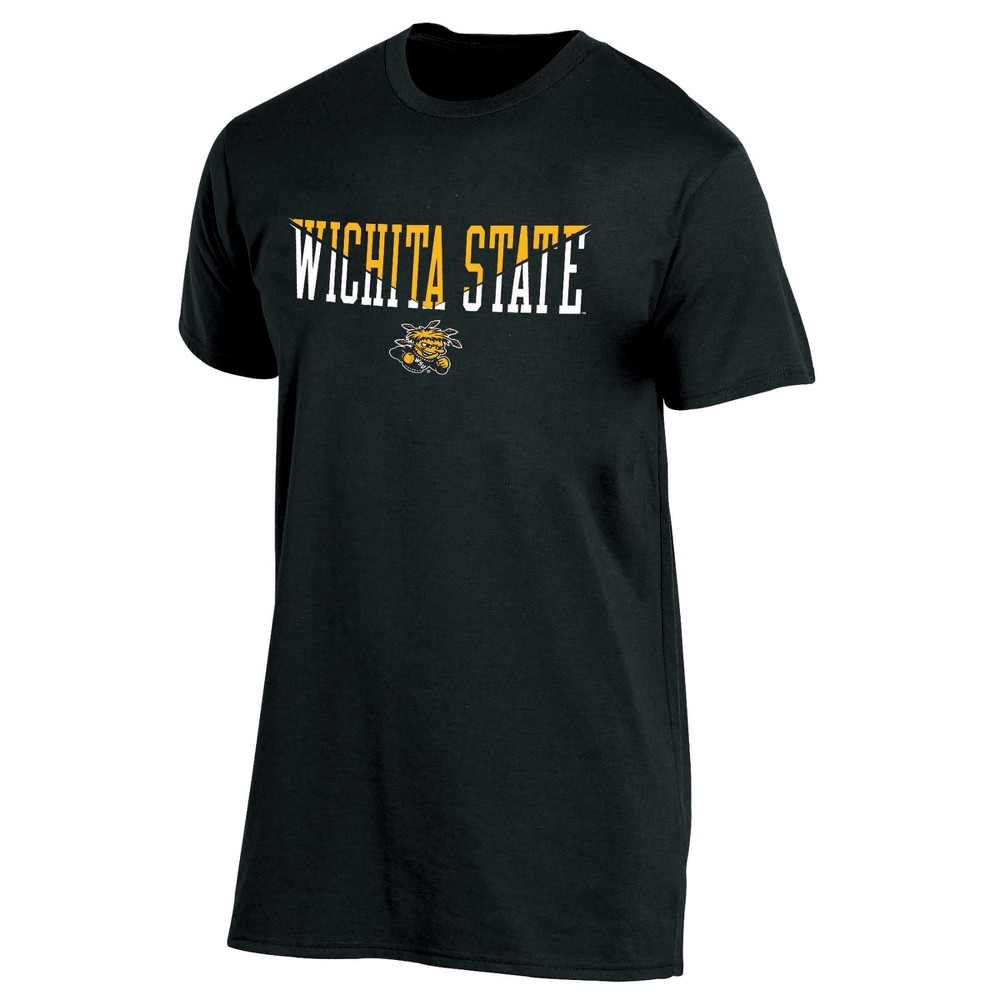 Wichita State Shockers Men's Short Sleeve Core Wordmark T-Shirt - Heather S, Multicolored