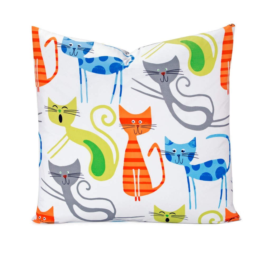 "Image of ""Smarty Cat 26"""" Throw Pillow - Learning Linens"""