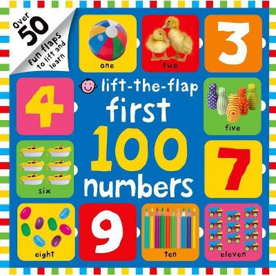 First 100 Numbers Lift-The-Flap - (Lift the Flap (Priddy Books))by Roger Priddy (Board_book)