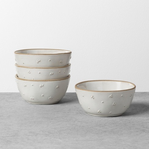 Textured Floral Mini Bowl Sour Cream - Hearth & Hand™ with Magnolia - image 1 of 2