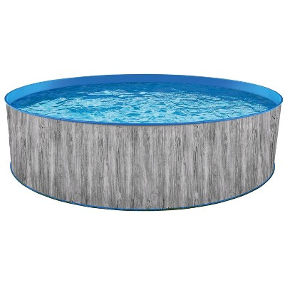 """Blue Wave Round 144""""x144"""" Capri Steel Wall Pool Kit"""