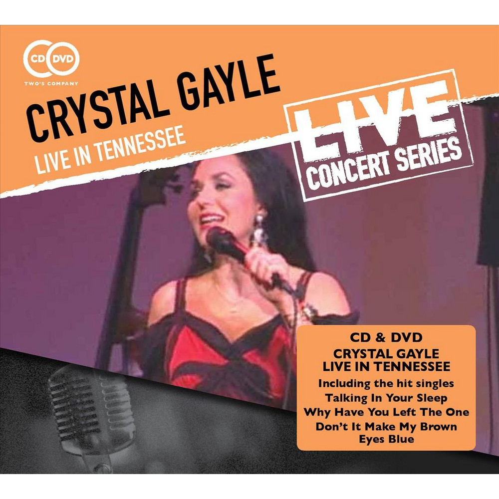 Crystal Gayle - Crystal Gayle:Live In Tennessee (CD) Disc 1 0. Disc 1: Disc 2 0. Disc 2: Disc 1 1. Everybody's Reaching Out for Someone Disc 2 1. Old Songs Disc 1 2. Green Door Disc 2 2. Acoustic Medley: I'll Get Over You/You Never Gave Up on Me/Baby What About You/I'll Do It All Over Again Disc 1 3. Half the Way Disc 2 3. Skylark/Nearness of You Disc 1 4. Wrong Road Again/ Somebody Loves You Disc 2 4. Gospel Medley: I Saw the Light/Somebody Touched Me/I'll Fly Away/Jesus on the Mainline Disc 1 5. Why Have You Left the One 6. Talking in Your Sleep 7. You Don't Even Know My Name 8. Hallelujah I Love Him So 9. You Belong to Me 10. River Road 11. Coal Miner's Daughter - (featuring Peggy Sue Wells) 12. Blue Moon of Kentucky - (featuring Peggy Sue Wells) 13. Ready for the Times to Get Better 14. Midnight in the Desert 15. More Money - (featuring Peggy Sue Wells) 16. Don't Come Home a Drinking - (featuring Peggy Sue Wells) 17. San Antonio Rose - (featuring Peggy Sue Wells) 18. That's What I Like About the South - (featuring Peggy Sue Wells) 19. Don't It Make My Brown Eyes Blue 20. When I Dream - (featuring Peggy Sue Wells)