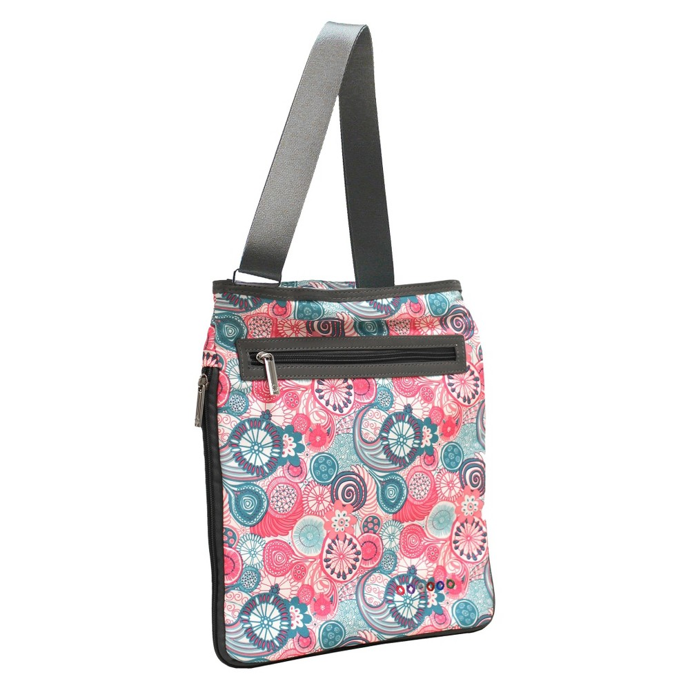 "Image of ""J World 12"""" Cush Expandable Tablet Crossbody Backpack - Blue Raspberry, Size: Large, MultiColored"""