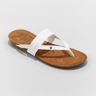 Women's Mad Love Regina Comfort Flip Flop Sandals - White 7