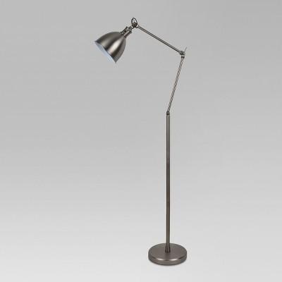 Industrial Task Floor Lamp Pewter Lamp Only - Threshold™