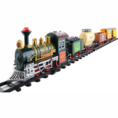 Northlight 18-Piece Lighted and Animated Continental Express Train Set with Sound