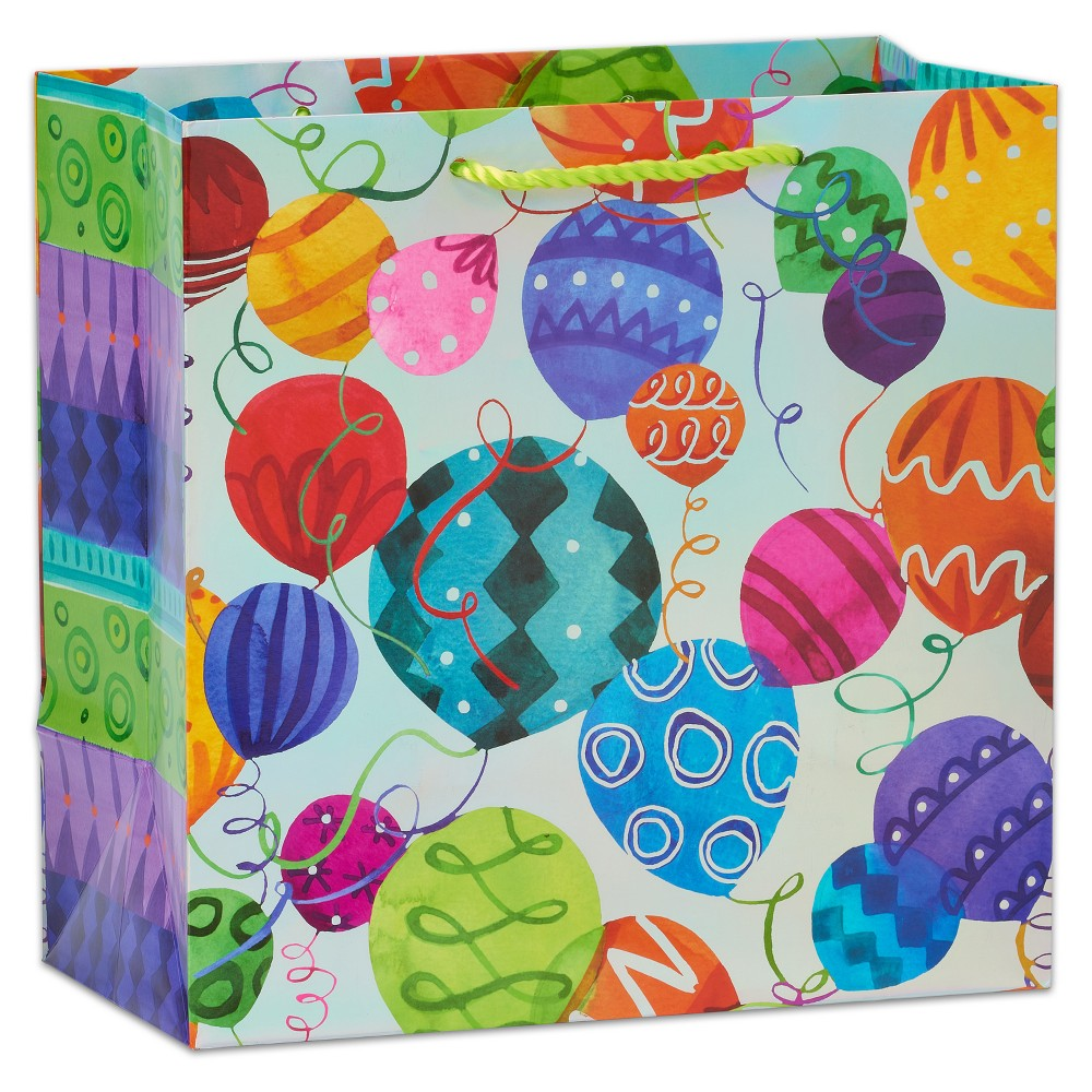 Papyrus Fun Patterned Balloons Large Gift Bag, Multi-Colored