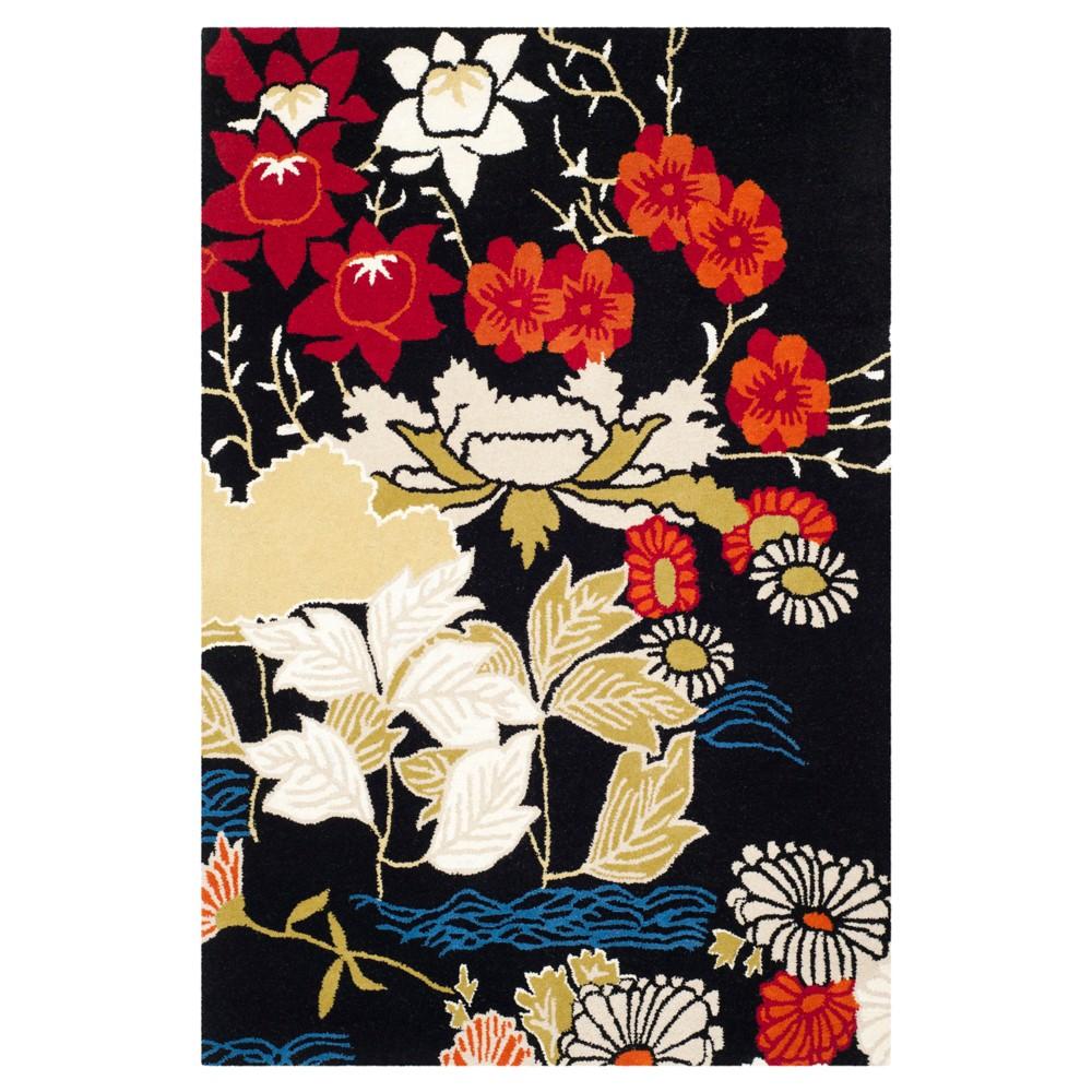 Floral Tufted Area Rug 4'X6' - Safavieh, Black