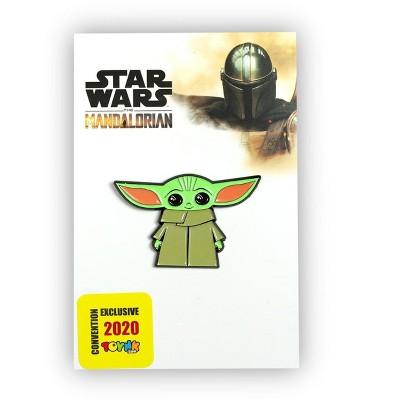 SalesOne LLC Star Wars Toynk Exclusive Enamel Pin Mandalorian Cartoon Child Baby Yoda Ears Up