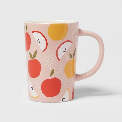 16oz Stoneware Apple Print Mug - Room Essentials™