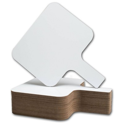 12pk Rectangular Dry Erase Answer Paddles - Flipside