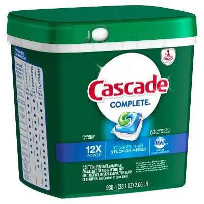 Cascade Fresh Scented Complete Actionpacs Dishwasher Detergent - 63ct