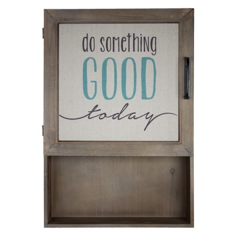 """Do Something Good Today"" Metal And Wood Wall Decor Brown - E2 Concepts - image 1 of 4"