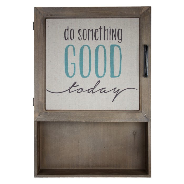 """Do Something Good Today"" Metal And Wood Wall Decor Brown - E2 Concepts - image 1 of 7"
