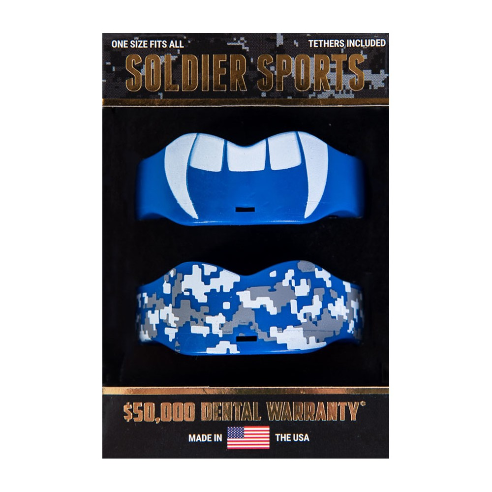 Soldier Sports Boil and Bite Mouthguards - 2pk - Royal Blue Soldier Sports Boil and Bite Mouthguards - 2pk - Royal Blue