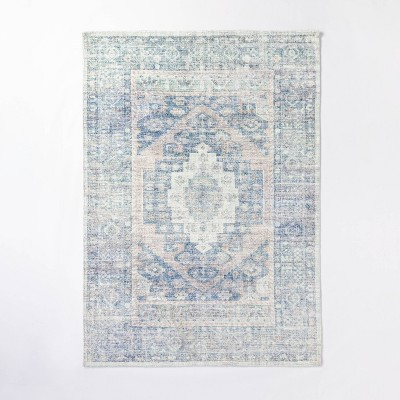 5'x7' Brighton Distressed Vintage Persian Rug Light Blue - Threshold™ designed with Studio McGee