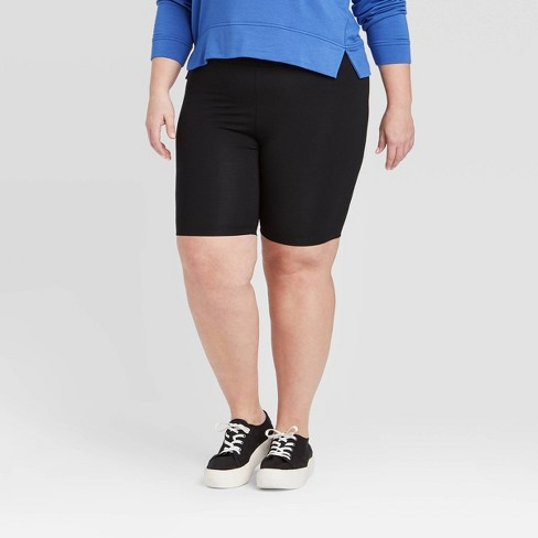 Women's Plus Size Mid-Rise Bike Shorts - Ava & Viv™  - image 1 of 2