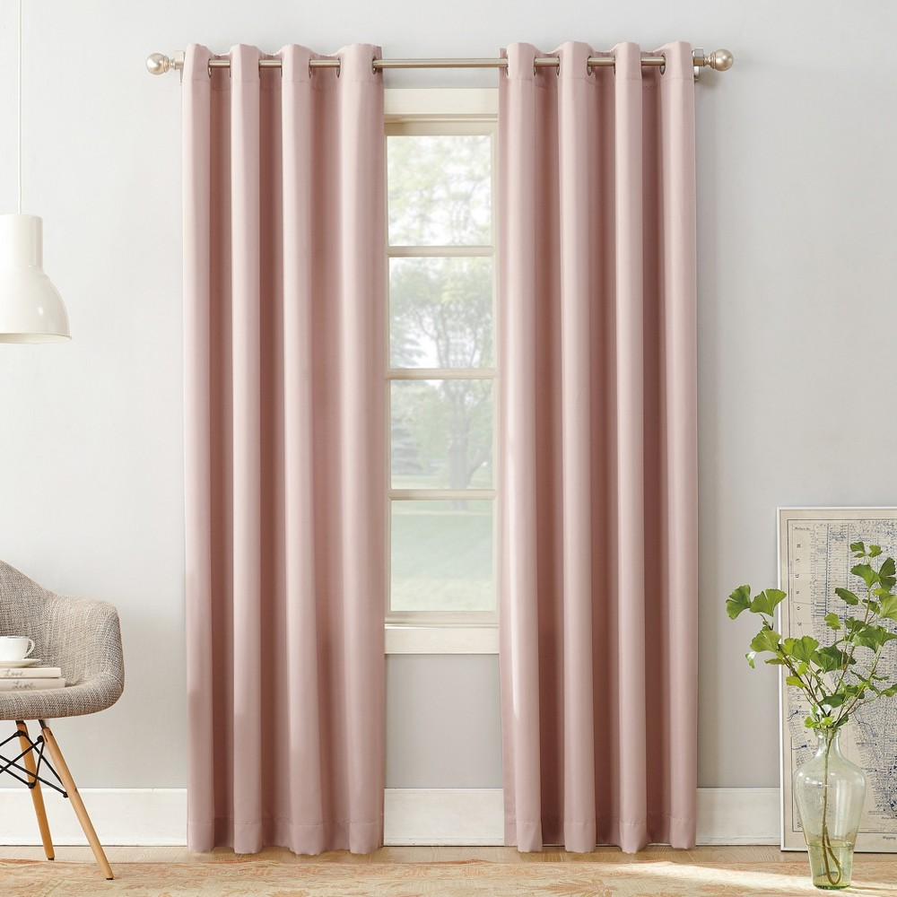 Best Shopping Seymour Room Darkening Grommet Curtain Panel Blush 54x63 Sun Zero