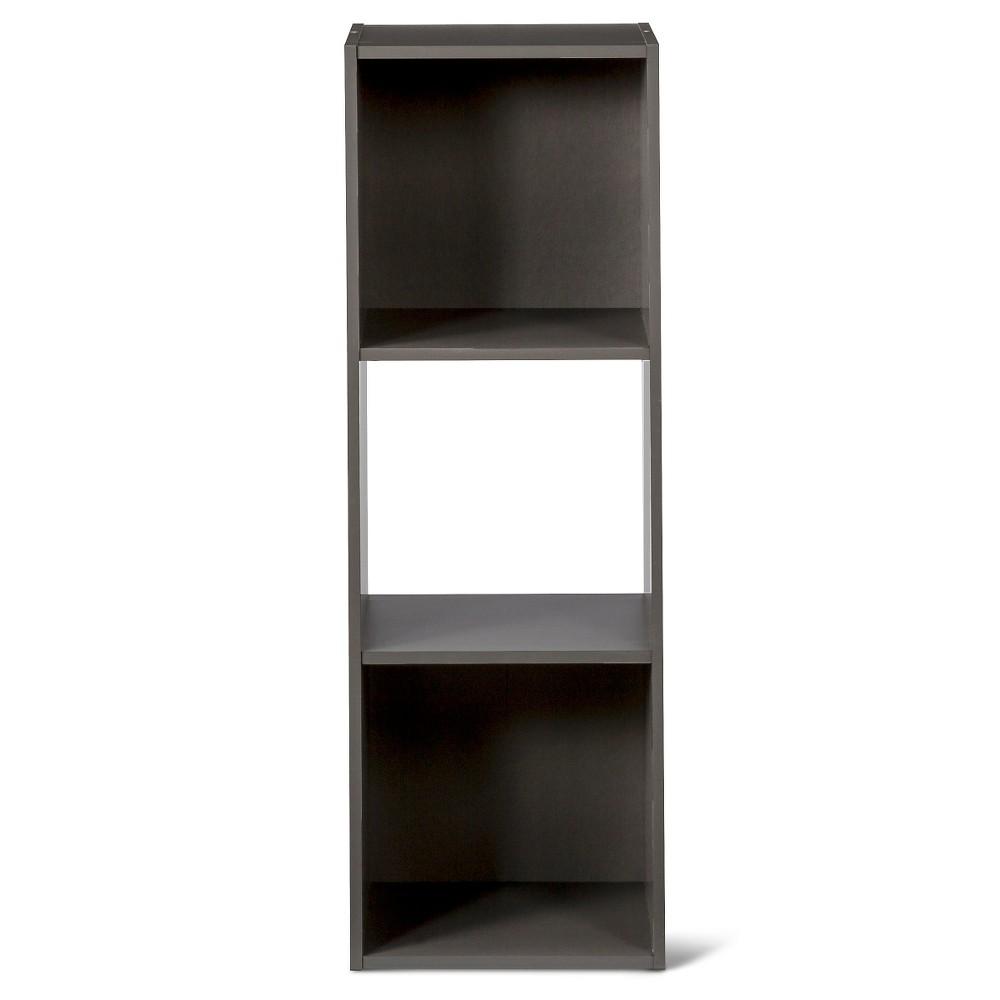 "Image of ""11"""" 3-Cube Organizer Shelf Gray - Room Essentials"""