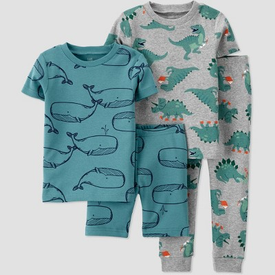 Toddler Boys' 4pc Whale Dino Printed Snug Fit Pajama Set - Just One You® made by carter's