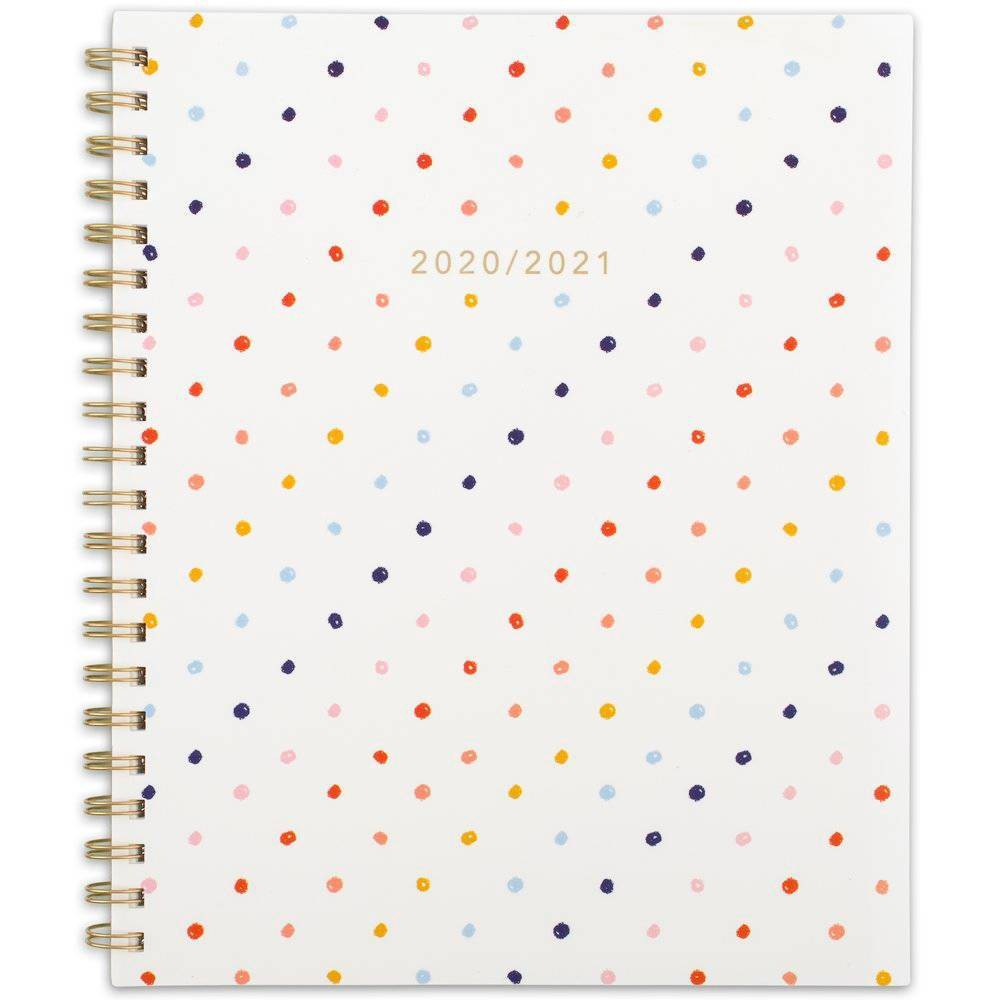 "Image of ""2020-21 Academic Planner 8.5"""" x 11"""" Polka Dot - Knot + Bow"""