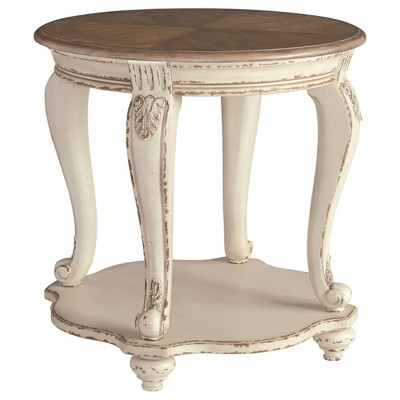 Realyn Round End Table White/Brown - Signature Design by Ashley