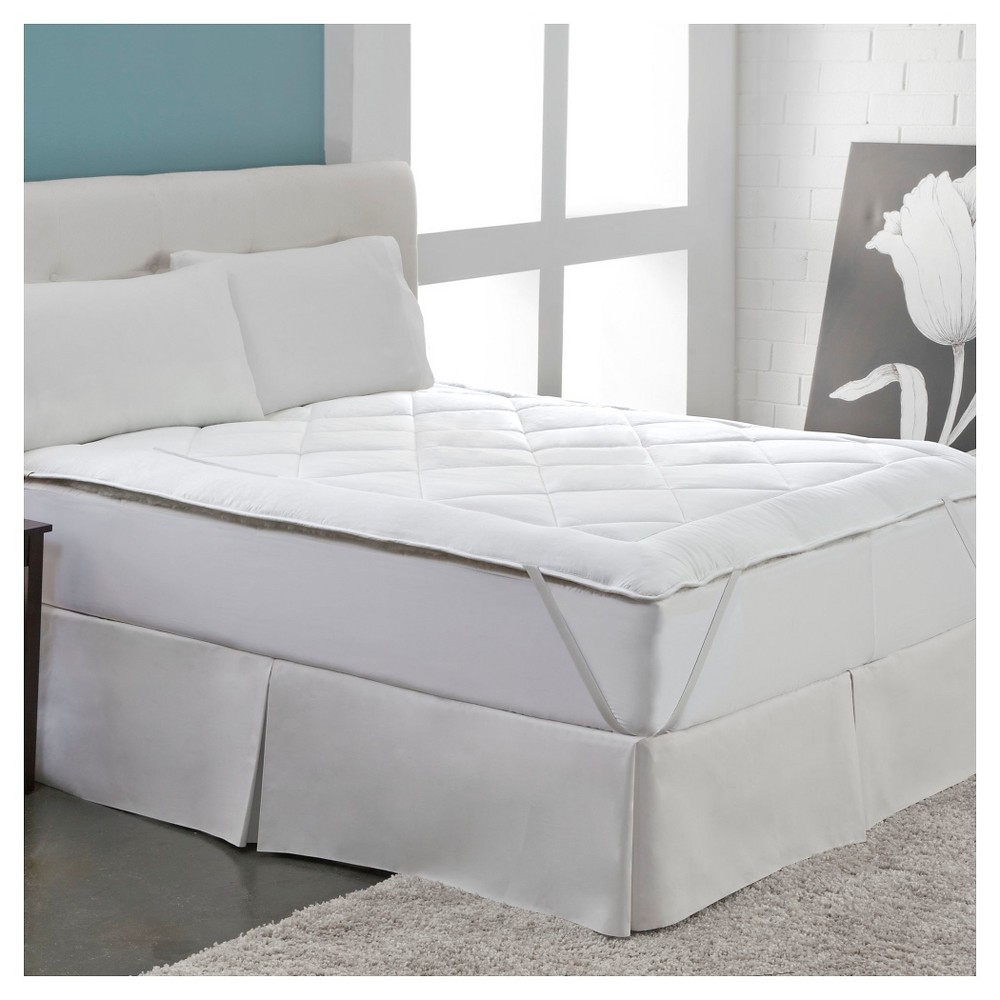Image of Cool Wool Reversible Mattress Topper - White (Full)