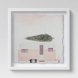 "12"" x 12"" Camper with Tree Framed Print - Threshold™"