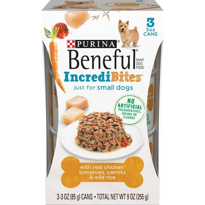 Beneful IncrediBites Wet Dog Food for Small Dogs - 3oz/3pk