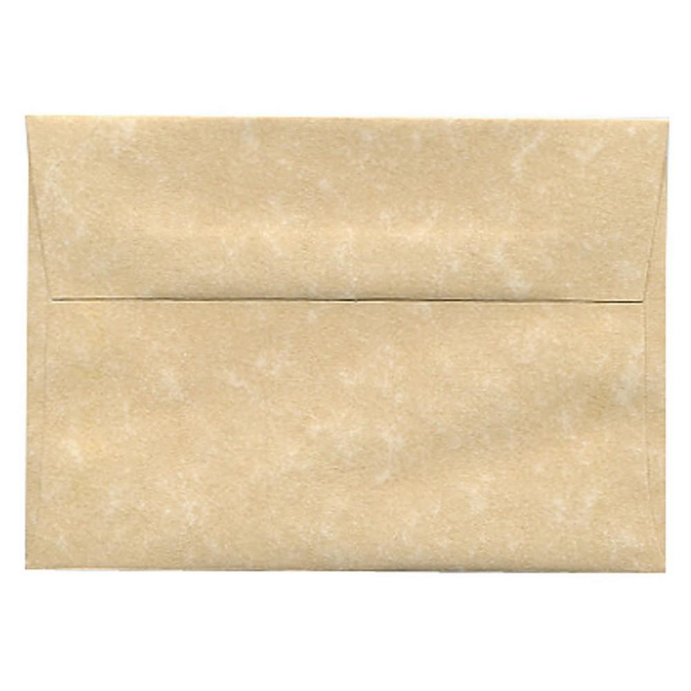 Jam Paper Envelopes 4Bar A1 50ct Parchment - Brown