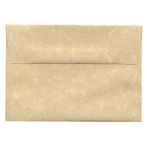 JAM Paper® Envelopes 4Bar A1 50ct Parchment - Brown - image 1 of 3