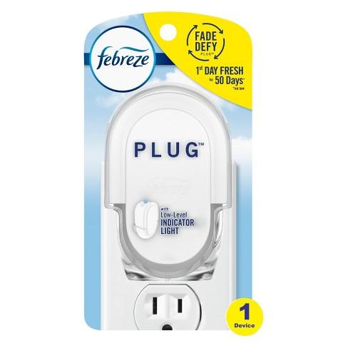 Febreze Odor-Eliminating Fade Defy Plug Air Freshener Warmer Device - 1 Ct - image 1 of 4