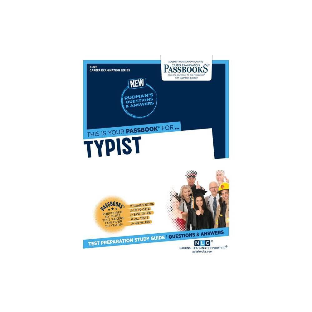 Typist Volume 826 Career Examination Paperback