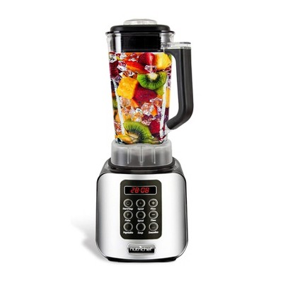 NutriChef NCBL1700 Professional Home Kitchen 5 Speed Digital Countertop Blender w/ 1.70 Liter Container, Pulse Blend and Timer for Smoothies and Soup