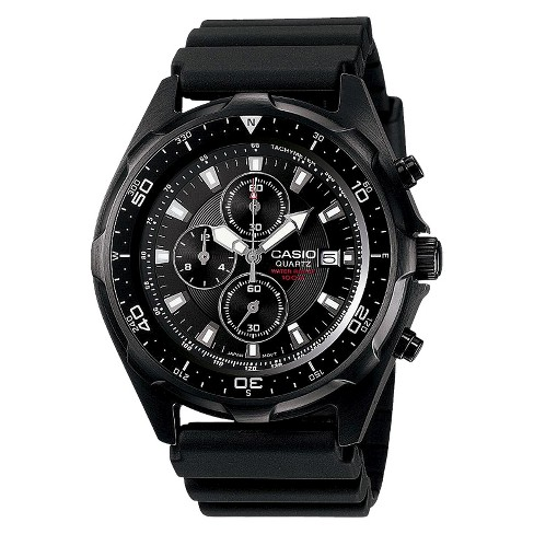 2306d1bc8 Men's Casio Dive Style Stainless Steel Chronograph Watch - Black  (AMW330B-1A) : Target
