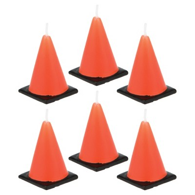 6ct Construction Cone Candles