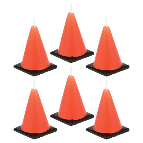 6ct Construction Cone Candles - image 1 of 3