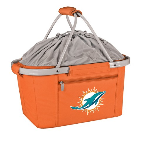 Picnic Time NFL Miami Dolphins Metro Basket Collapsible Tote - Orange - image 1 of 2